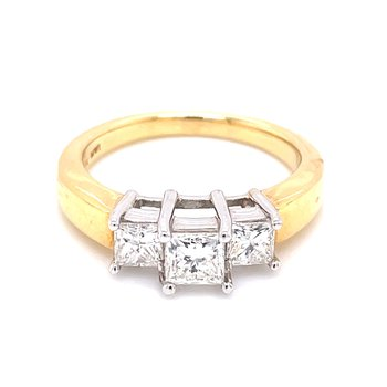 Past Present & Future Princess Cut Ring