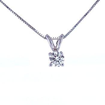 Solitaire Diamond Pendant 1/4ct