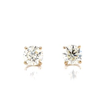 1ctw Diamond Studs-14ky