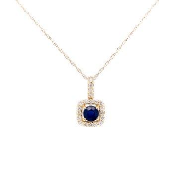 Classic Sapphire & Diamond Pendant