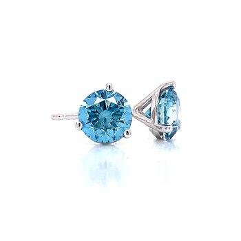 Evolv-Blue Diamond Earrings 2ctw