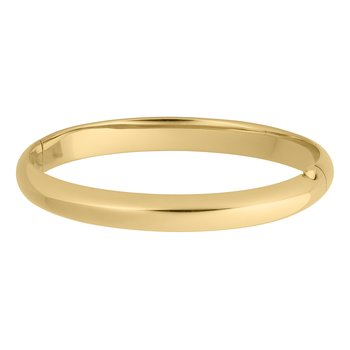 High Polished Gold Filled Bangle