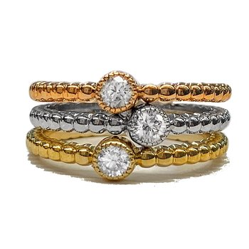 Tri-Color Three Ring Stackable