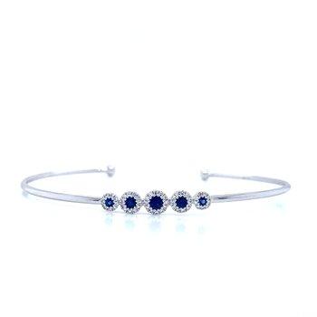 Sapphire Simplicity Cuff Bangle.