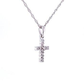 Oh, so Petite Diamond Cross Pendant