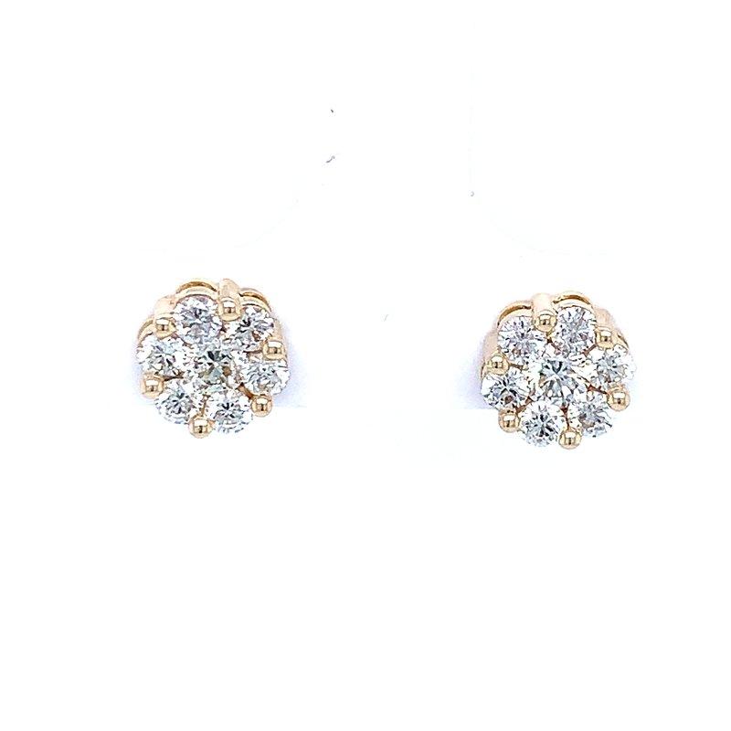 Bryan Beauties Flower Cluster Earrings 1ctw 10ky