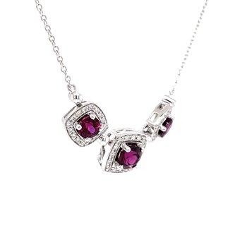 Luscious Rhodolite Garnet Necklace.