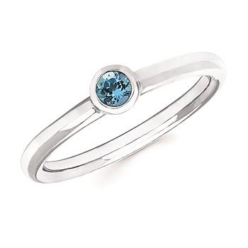 London Blue Topaz Bezel Set Ring