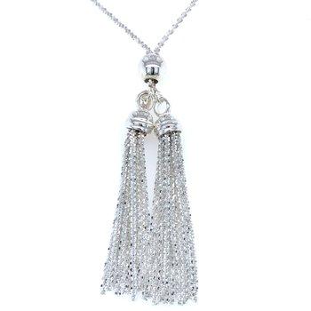 Double Tassel Lariat Necklace