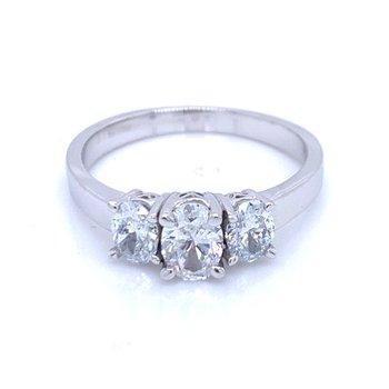 Three Stone Oval Ring