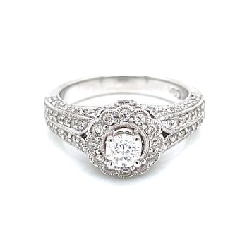1.00ctw Vintage Style Engagement Ring