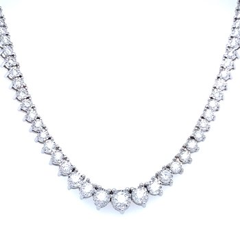 3ctw Graduated Riviera Necklace