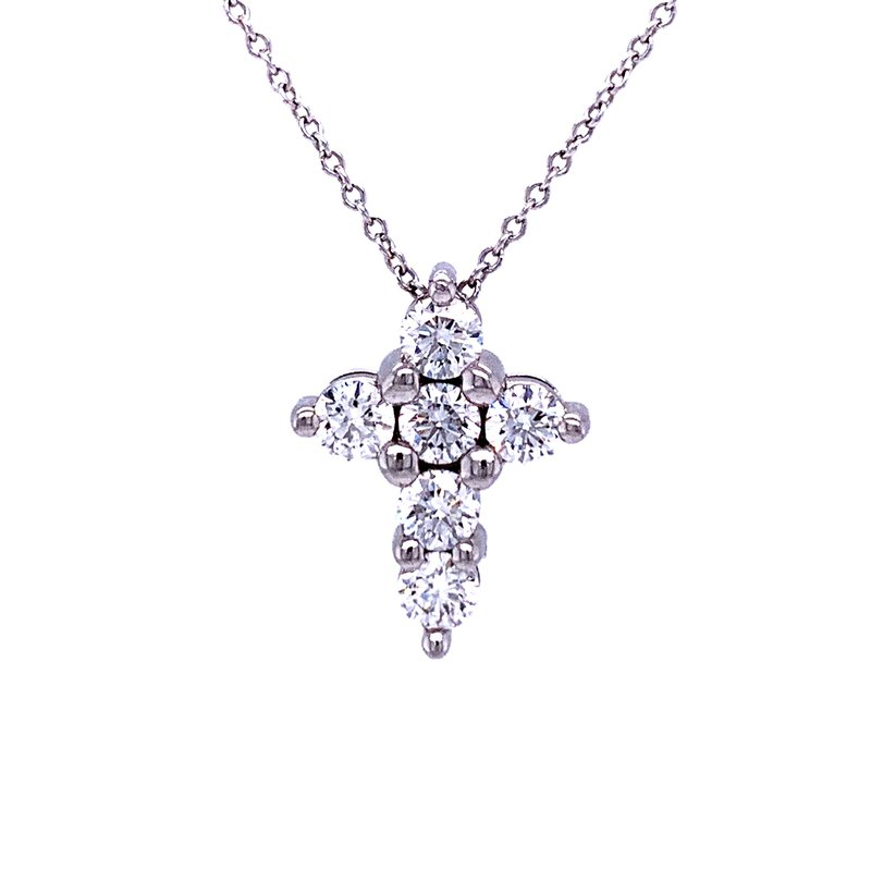 Bryan Beauties Petite Platinum and Diamond Cross Pendant