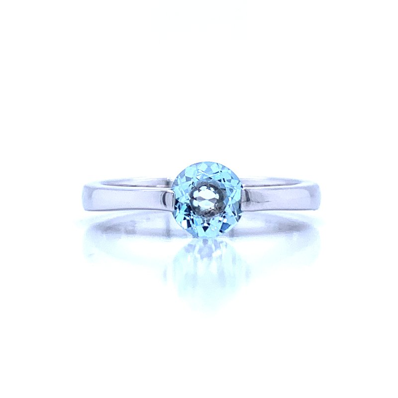 Bryan Beauties Contemporary Lines Blue Topaz Ring