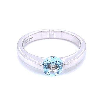 Contemporary Lines Blue Topaz Ring