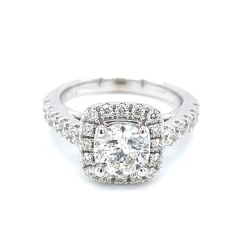 2 1/2ctw Halo Engagement Ring