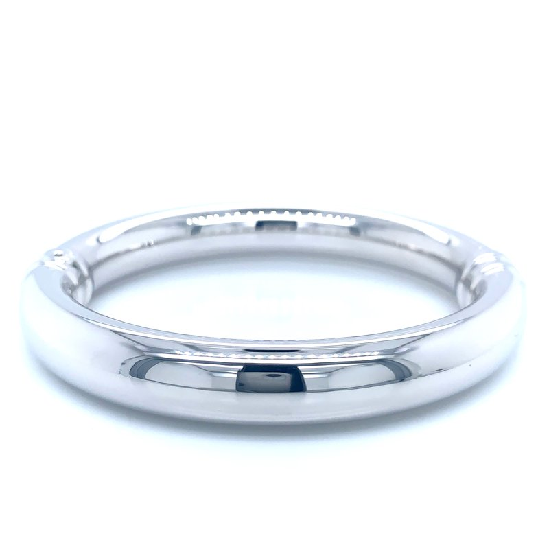 Aladdin Gold Creations White Gold Hinged Bangle