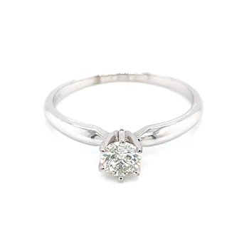 1/3 carat Round Brilliant Cut Diamond Solitaire-14kw