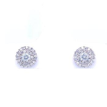 1/4ctw Diamond Custer Earrings