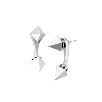 Pyramid Spike Tunnel Earrings