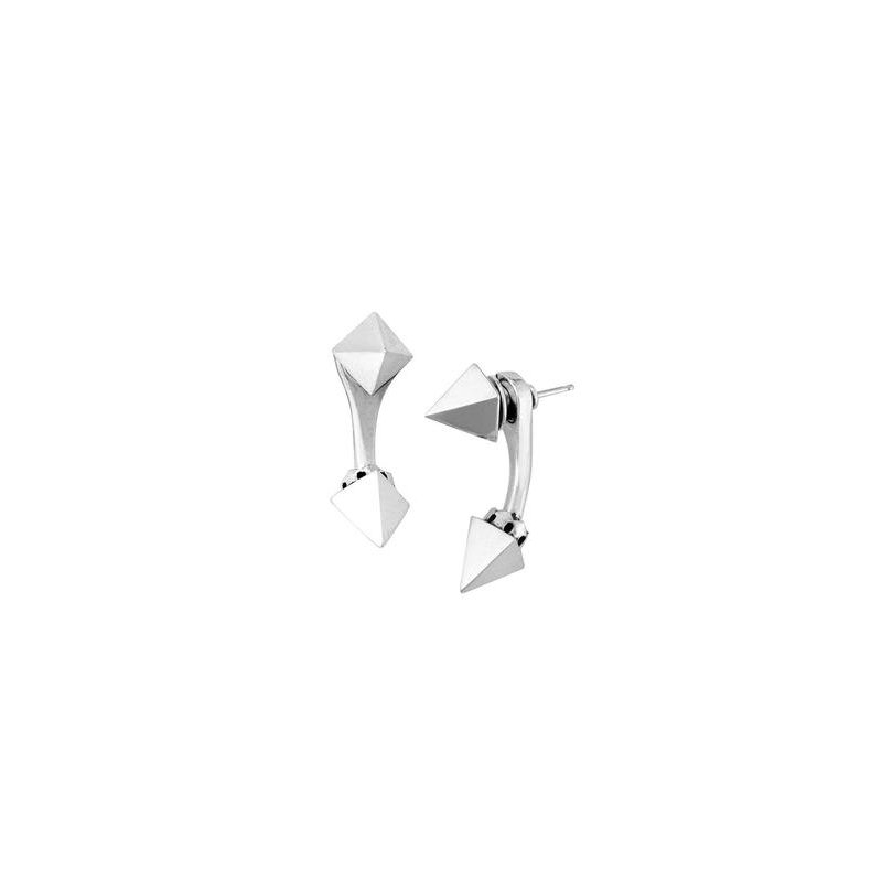 King Baby Pyramid Spike Tunnel Earrings