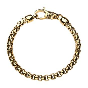 18K Gold Plated Bold Box Bracelet