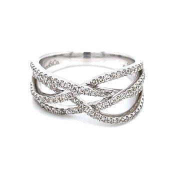 Intersecting Diamond Band