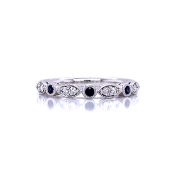 Sapphire & Diamond Stackable