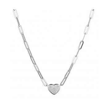 Sizzling Heart and Paperclip Necklace.