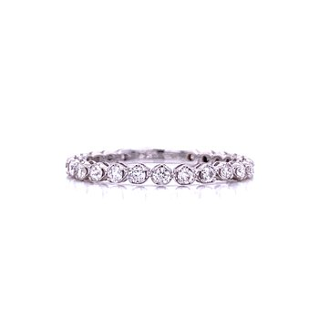 From here to Eternity Diamond Band in 14k white