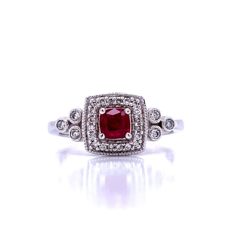 Bryan Beauties Ruby & Diamond Fashion Ring-14kw