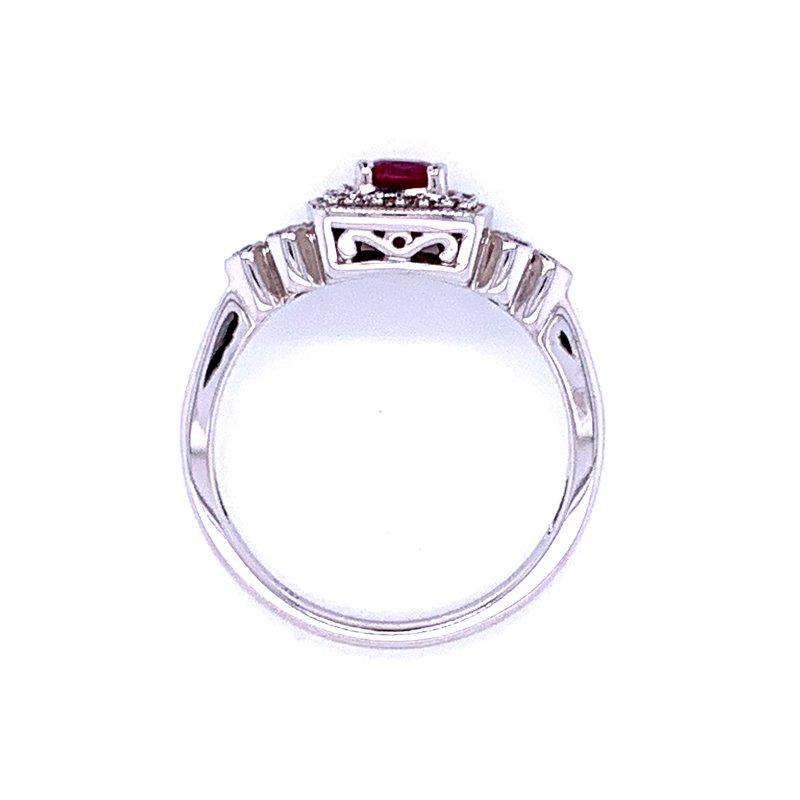 Bryan Beauties Ruby & Diamond Fashion Ring-14kw