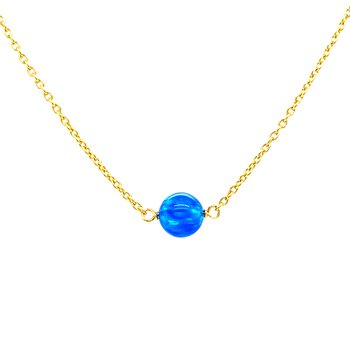 Pacific Blue Opal Bead Necklace