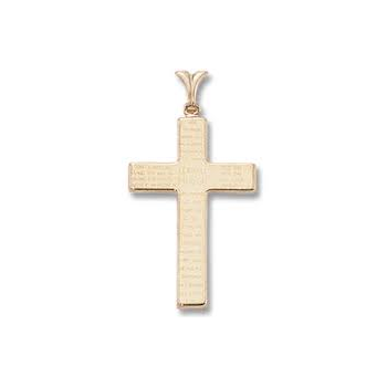 Lord's Prayer Cross 14ky