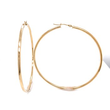Gold Hoop Earrings - 40mm