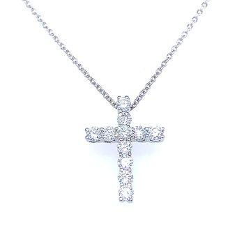 Latin Style Diamond Cross Pendant