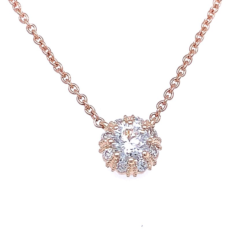 Bryan Beauties Simply Stunning Halo Necklace in Rose