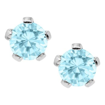 Kiddie Kraft December Birthstone Earrings in Silver
