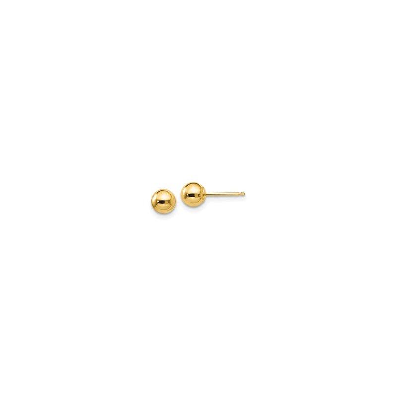 Bryan Beauties 5mm Gold Ball Stud Earrings-14ky