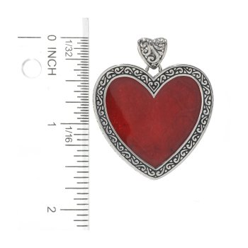 Red Coral Heart Pendant