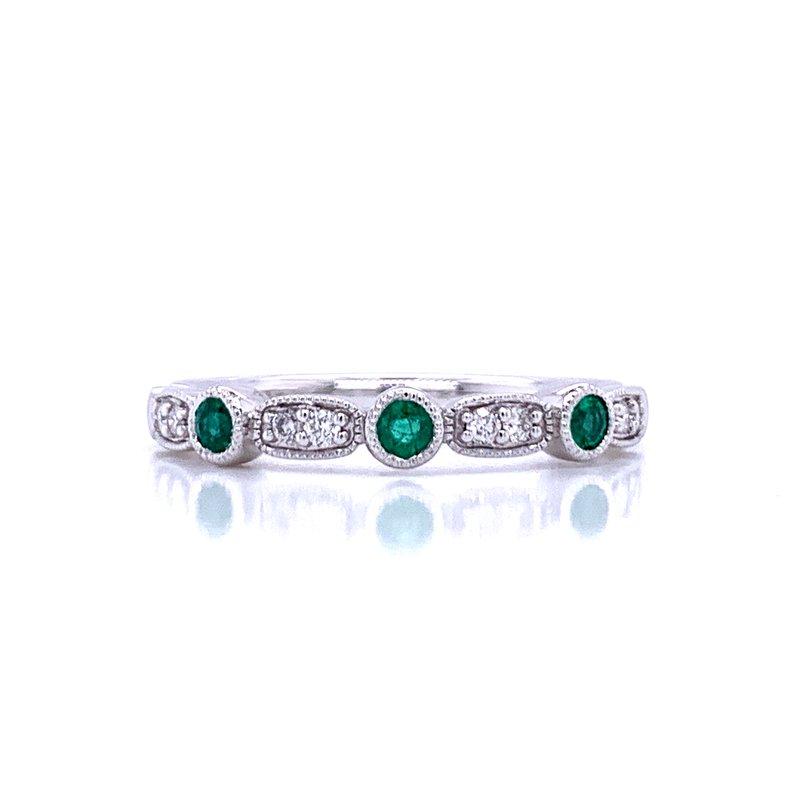 Bryan Beauties Emerald & Diamond Stackable Band