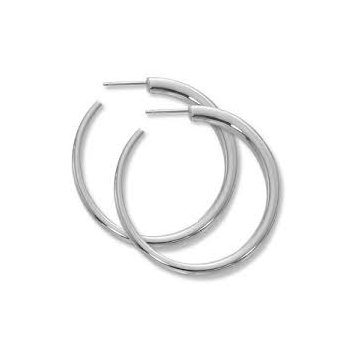 Sterling Silver Post & Back Hoop