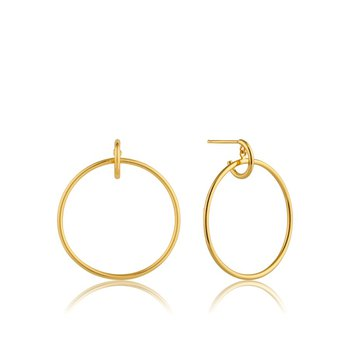 Gold Front Hoop Earrings