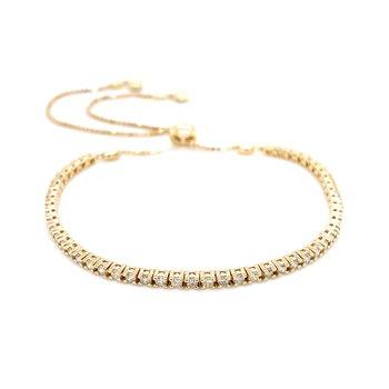 1ctw Diamond Bolo Bracelet-14ky