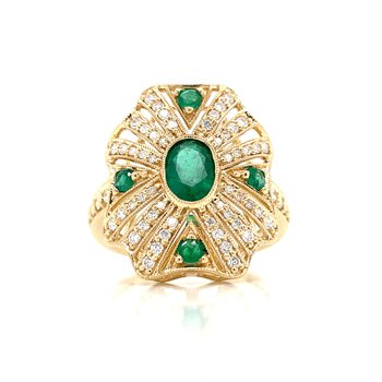 Inspirations from the Past Emerald Ring