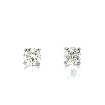 1/3ctw Diamond Studs-14kw