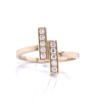 Parallel Diamond Bar Ring