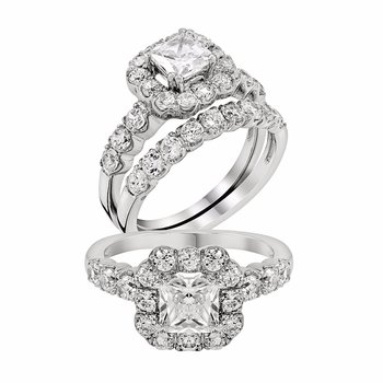 2ctw Wedding Set