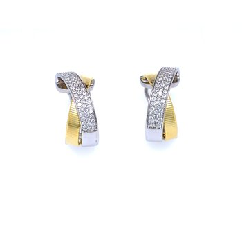 Fashion CZ Hoop Earrings