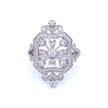 Vintage Inspiration Diamond Fashion Ring